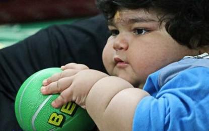 از هر 5 کودک یکی دچار چاقی است